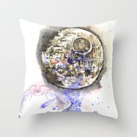 Star Wars Art Painting The Death Star Throw Pillow