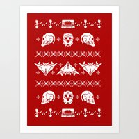 Merry Christmas A-Holes Art Print