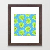 Pattern of Palm Tree-like Flowers Framed Art Print