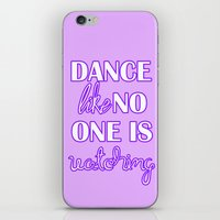 Dance Like No One is Watching - Purple iPhone & iPod Skin