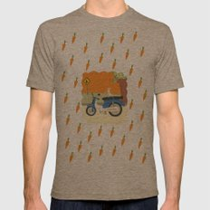 motorbike Mens Fitted Tee Tri-Coffee SMALL