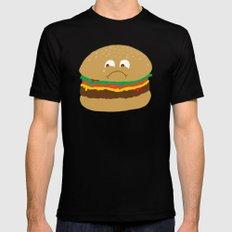 Sad Hamburger Mens Fitted Tee Black SMALL