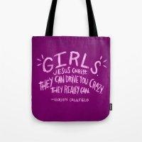 HOLDEN CAULFIELD ON GIRL… Tote Bag