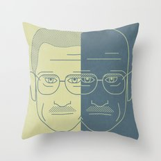 Breaking Bad - Faces - Double Walter White Throw Pillow