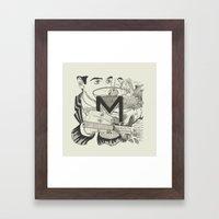 M is for Martini Framed Art Print