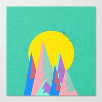 Neon Cliffs Canvas Print