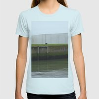 By the water Womens Fitted Tee Light Blue SMALL
