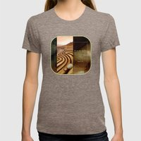 The Plough Womens Fitted Tee Tri-Coffee SMALL
