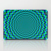 Pulse in Blue and Green iPad Case