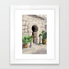 Arab Baths Palma de Mallorca DP151029b-14 Framed Art Print