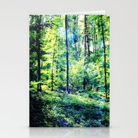one summer day in the forest Stationery Cards