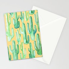 cactus yellow Stationery Cards