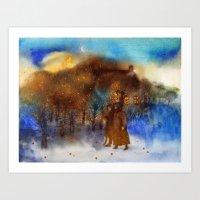 twilight Art Prints featuring Twilight by Iris V.