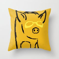 Pigster Throw Pillow
