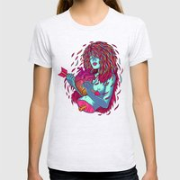 Shot through the heart Womens Fitted Tee Ash Grey SMALL