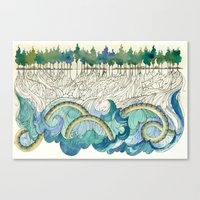Leviathan's Roots Canvas Print