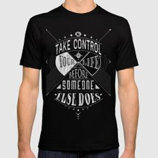 Take Control SMALL Black Mens Fitted Tee