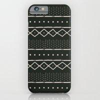 Mudcloth In Bone On Blac… iPhone 6 Slim Case