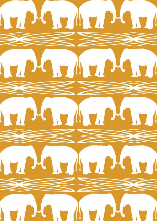 Elephant March Art Print