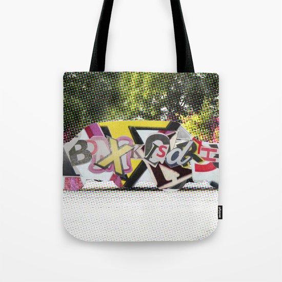 LetterCar / mobile BuchStabenSalat 3 Tote Bag