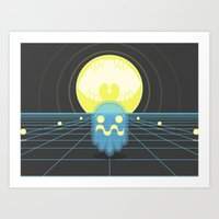 Pac-Monster Art Print