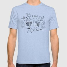 BOOM CLAP Mens Fitted Tee Athletic Blue SMALL