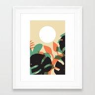 Jungle Sun #1 Framed Art Print