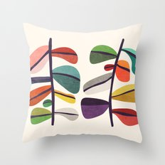 Plant specimens Throw Pillow