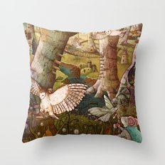 Of Mice and Owls Throw Pillow