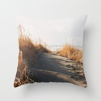 Trail To The Beach Throw Pillow
