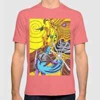 The Wizard 70's Mens Fitted Tee Pomegranate SMALL