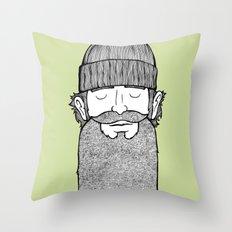 Lumberjack McBeardy Throw Pillow