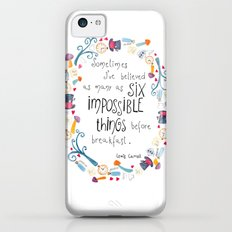 Alice in Wonderland - quote in wreath iPhone 5c Slim Case