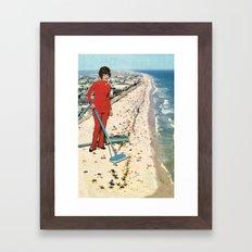 Dry Cleaning Framed Art Print