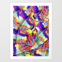 To Swim Art Print