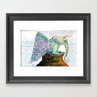 Zipperwoolf Framed Art Print