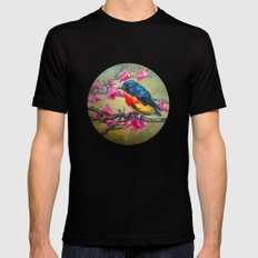Bird Black SMALL Mens Fitted Tee