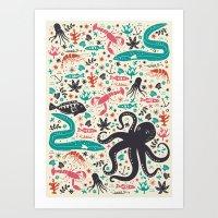 tea Art Prints featuring Sea Patrol by Anna Deegan