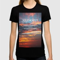 Serendipity Womens Fitted Tee Black SMALL