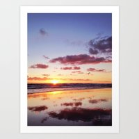 Sunset In Newport Beach Art Print