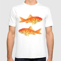 Fishy Mens Fitted Tee White SMALL