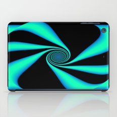 Abstract. Turquoise+Black. iPad Case