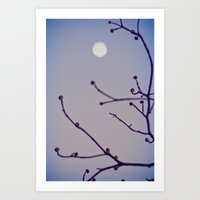 Blue Impossible Moon Art Print