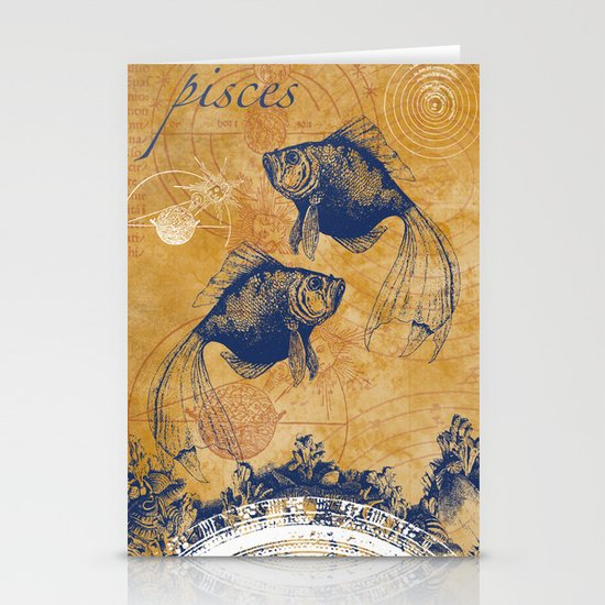 pisces | fische Stationery Card