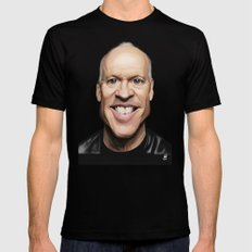 Celebrity Sunday ~ Michael Keaton Mens Fitted Tee Black SMALL