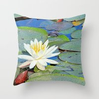 Throw Pillow featuring Magic Lily by Karol Livote
