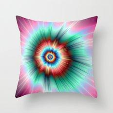 Tie Dye Comet Throw Pillow