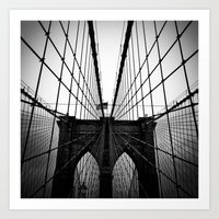 Broolyn Bridge Art Print