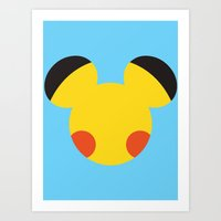 Electric Mouse  Art Print