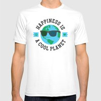 Happiness Is A Cool Plan… Mens Fitted Tee White SMALL